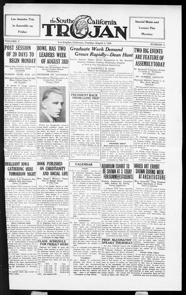 The Southern California Trojan, Vol. 5, No. 11, August 03, 1926