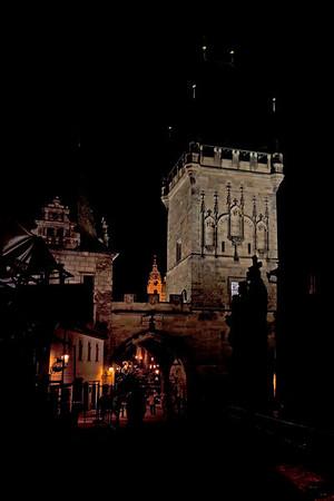 Prague night and day