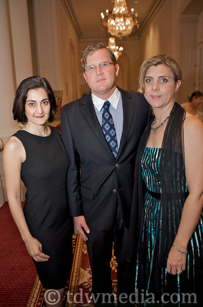Fati Farmanfarmaian, Todd Pattison and Christine Linnenbach