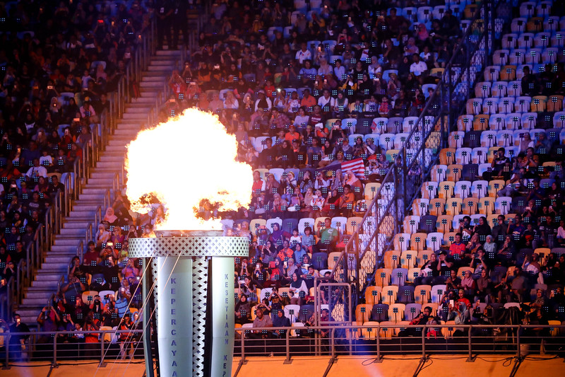 APG Opening Ceremony - Torch lit at Bukit Jalil Stadium on September 17th, 2017 (Photo by Sanketa Anand)