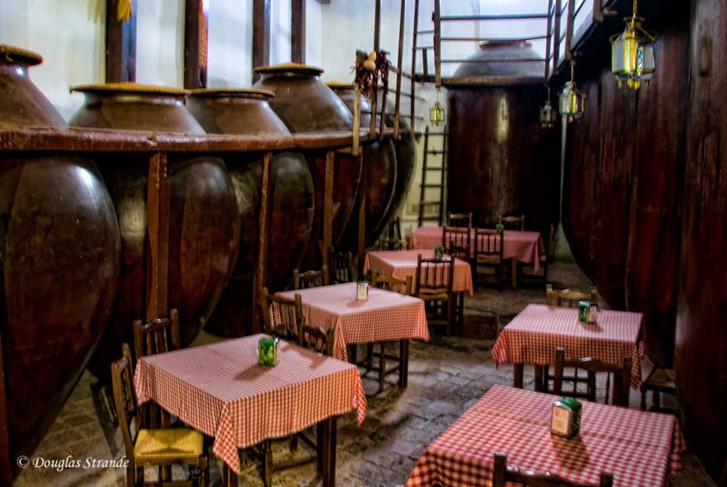 Wed 3/09 in La Mancha: Giant wine urns