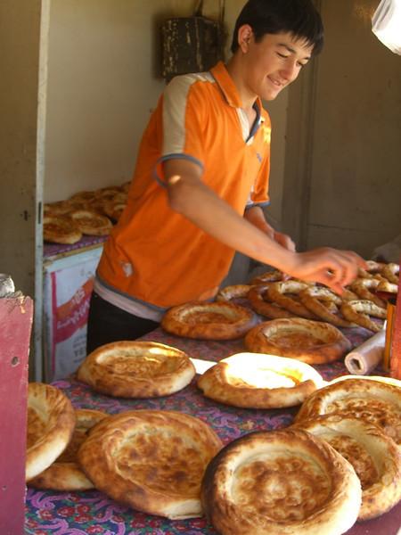 Kyrgyz Bread (Nan) - Bishkek, Kyrgyzstan