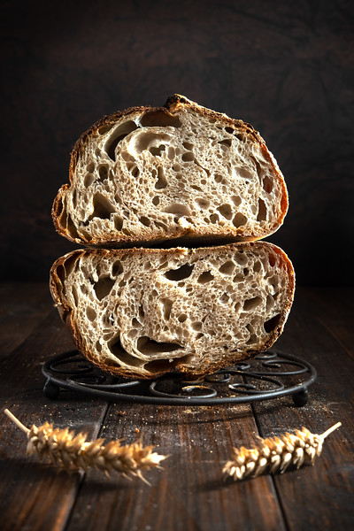 Open crumb basic sourdough bread