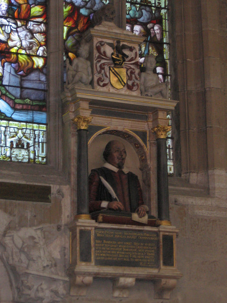 Monument to william Shakespeare, Holy Trinity Church, Stratford-upon-Avon
