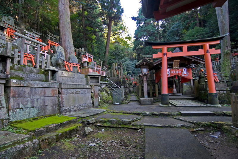 Fushimi-inari Shrine in Kyoto, Japan