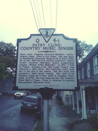 9/30/16 Patsy Cline House, Winchester, VA