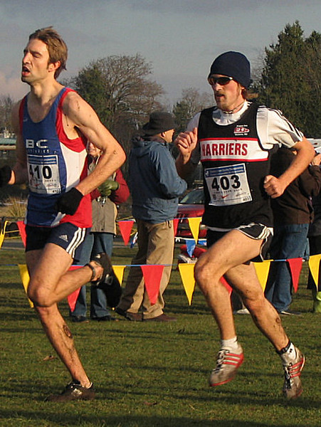 2005 Canadian XC Championships - Osaduik now all the way up to 9th and still moving