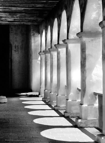 Mission Santa Barbara arches