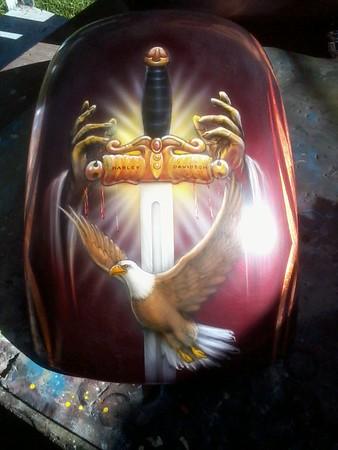 Harley worship bike by Dean Lawrence..