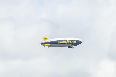 Goodyear Blimp Airship Flyover