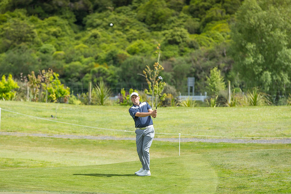 Ryan Chisnall hitting a ball on the 4th hole onPractice Day 1 of the Asia-Pacific Amateur Championship tournament 2017 held at Royal Wellington Golf Club, in Heretaunga, Upper Hutt, New Zealand from 26 - 29 October 2017. Copyright John Mathews 2017.   www.megasportmedia.co.nz
