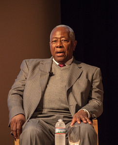 Hank Aaron at the National Portrait Gallery