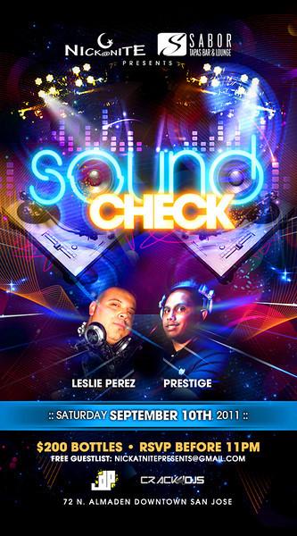 Sound Check @ Sabor Tapas Bar & Lounge 9.10.11