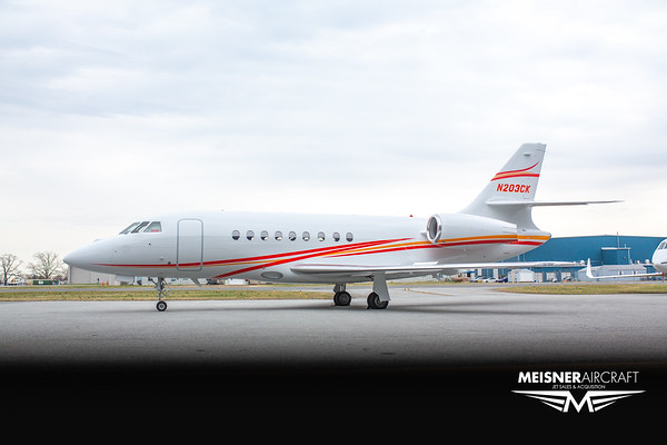 Falcon 2000 N203CK (High Res w/Logo)