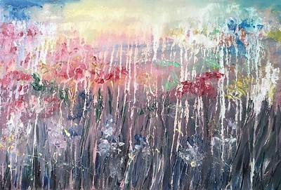 """Tears of Heaven"" (acrylic) by Oresta Kinash"