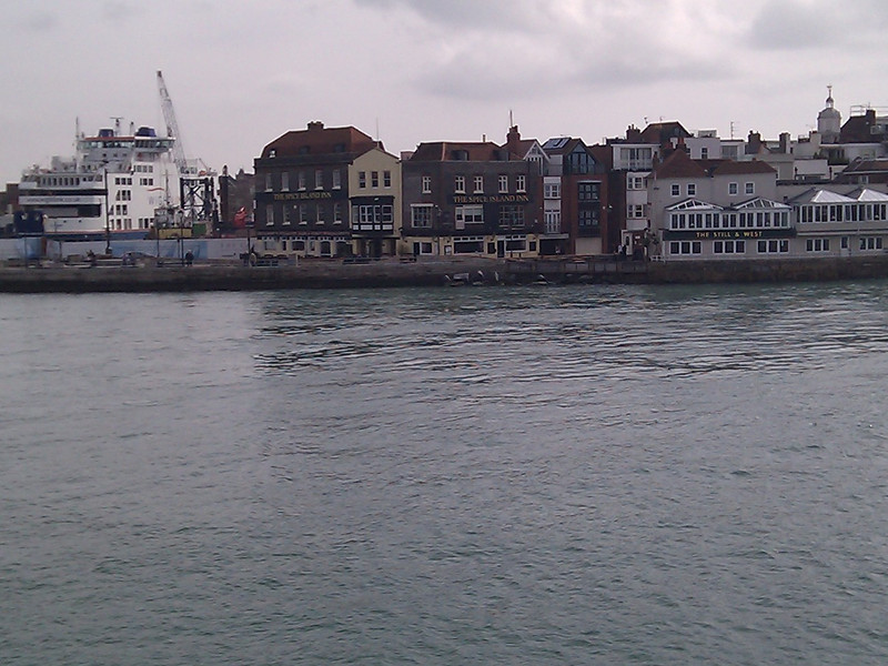 Just inside the harbour entrance