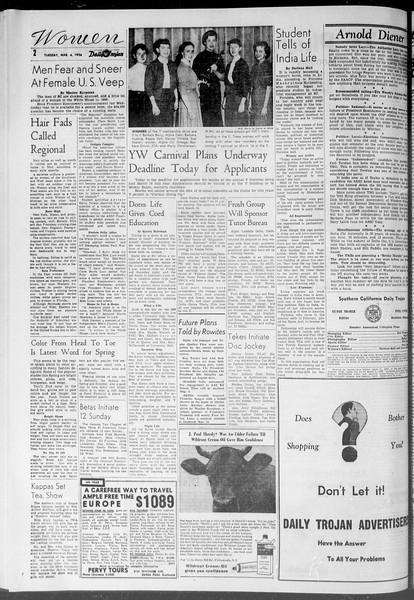 Daily Trojan, Vol. 47, No. 89, March 06, 1956