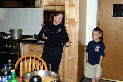 Pizza night with Naperville Firefighters May 26, 2012