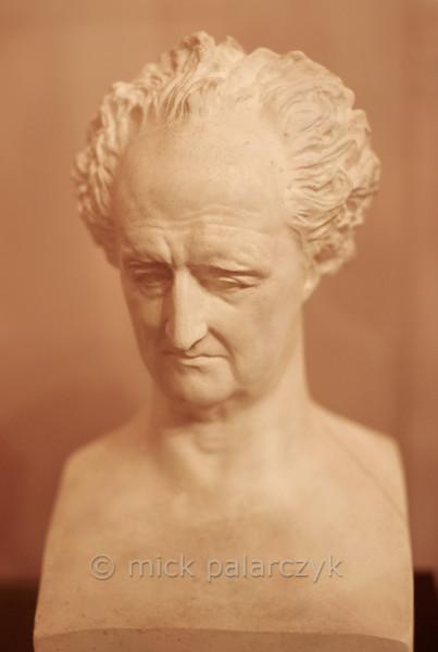 Goethe bust in the Stadtschloss Museum of Weimar.