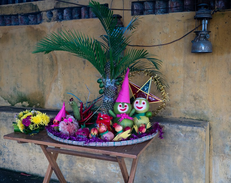Carved Fruit and Flowers for Ancestor Worship