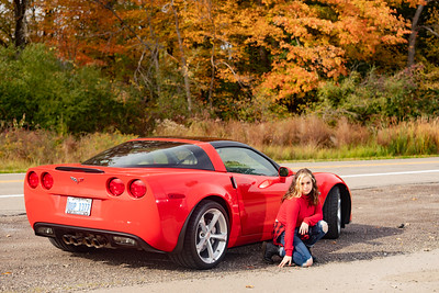 Pictures of Ken's vette with a HS grad