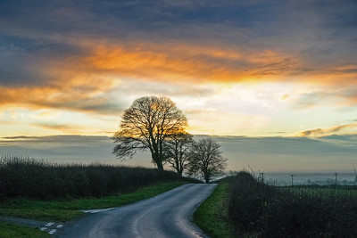 LINCOLNSHIRE WOLDS SUNSET