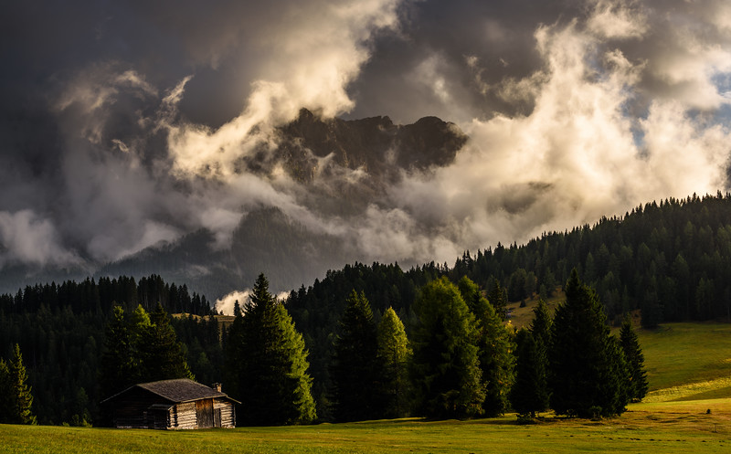 Lonely house in the mountains