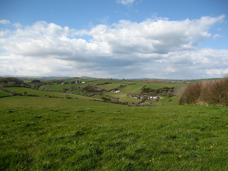 View over North Huish to Dartmoor