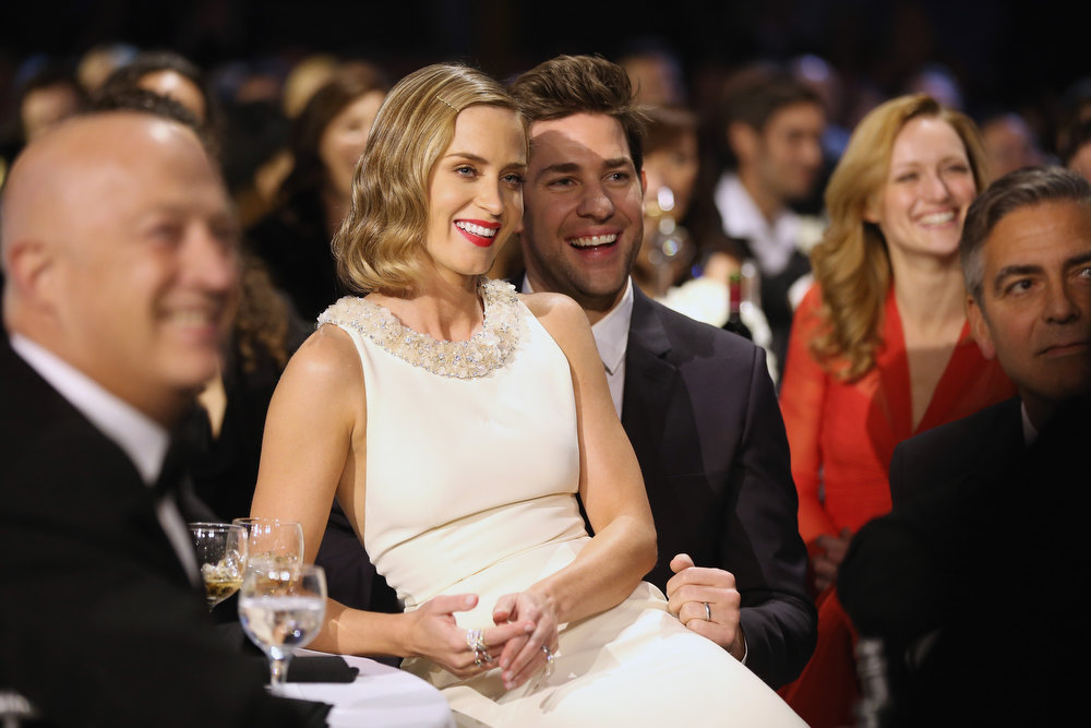 Description of . Actors Emily Blunt and John Krasinski attend the 18th Annual Critics' Choice Movie Awards held at Barker Hangar on January 10, 2013 in Santa Monica, California.  (Photo by Christopher Polk/Getty Images for BFCA)