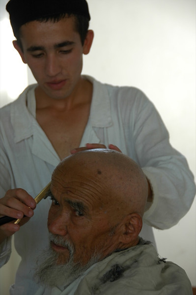 Haircut and Shave at Barber Shop - Shakhrisabz, Uzbekistan