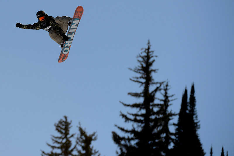 . Sven Thorgren rides during the men\'s snowboard slopestyle eliminator. X Games Aspen at Buttermilk on Thursday, January 23, 2014. (Photo by AAron Ontiveroz/The Denver Post)