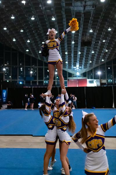 Broughton cheerleading Pre-States. November 16, 2019. D4S_1625