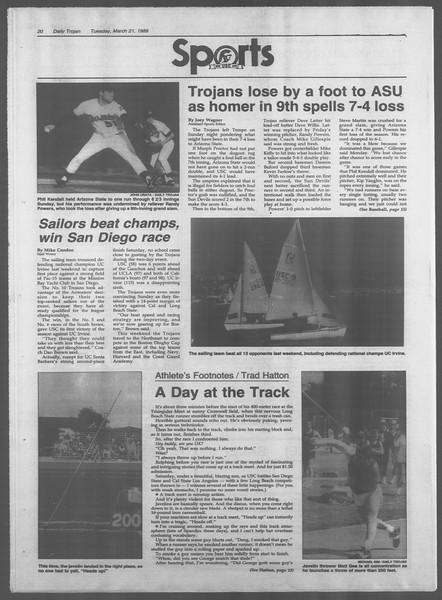 Daily Trojan, Vol. 108, No. 46, March 21, 1989