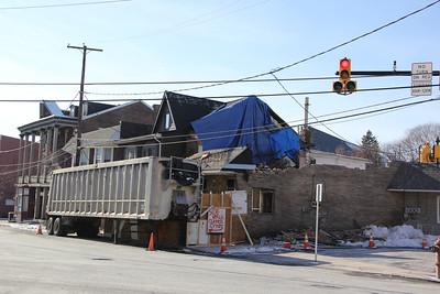 Construction Status, Napoli, Mauch Chunk St, Tamaqua (1-27-2013)