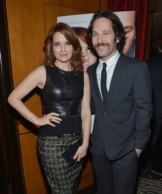 ". Actors Tina Fey (L) and Paul Rudd attend ""Admission\"" New York Premiere After Party at Monkey Bar on March 5, 2013 in New York City.  (Photo by Mike Coppola/Getty Images)"