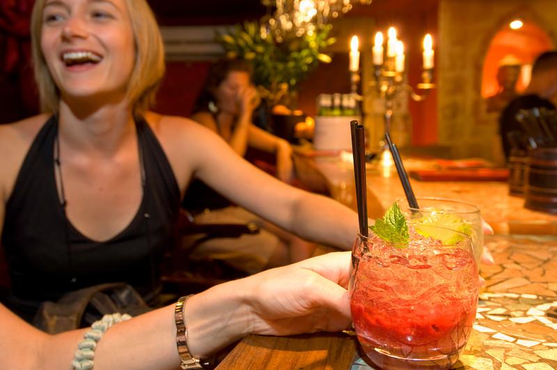 Poland, Cracow, Budda Bar on Rynek Glowny