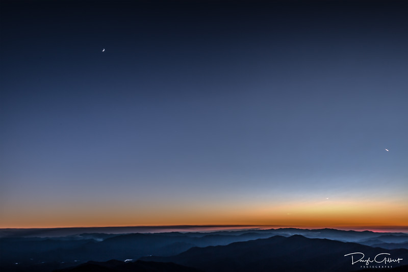 Smoky Mountain Sunset, Moonrise