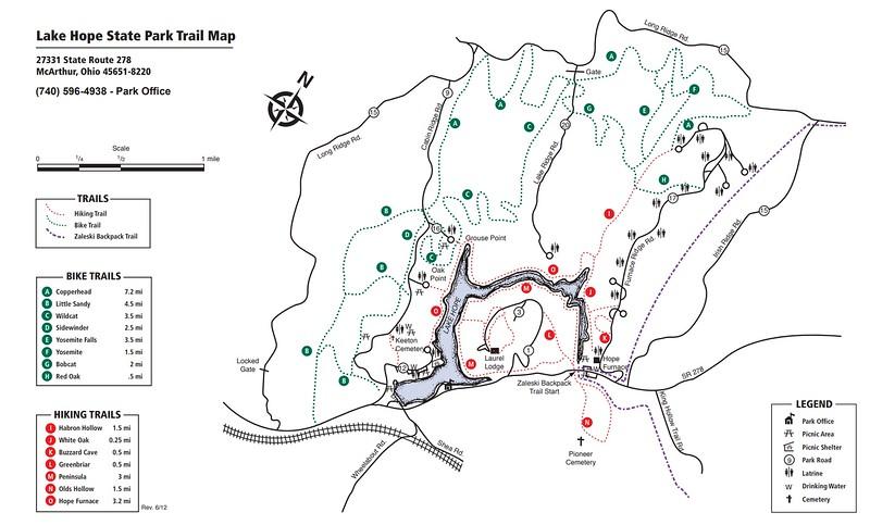 Lake Hope State Park (Trail Map)