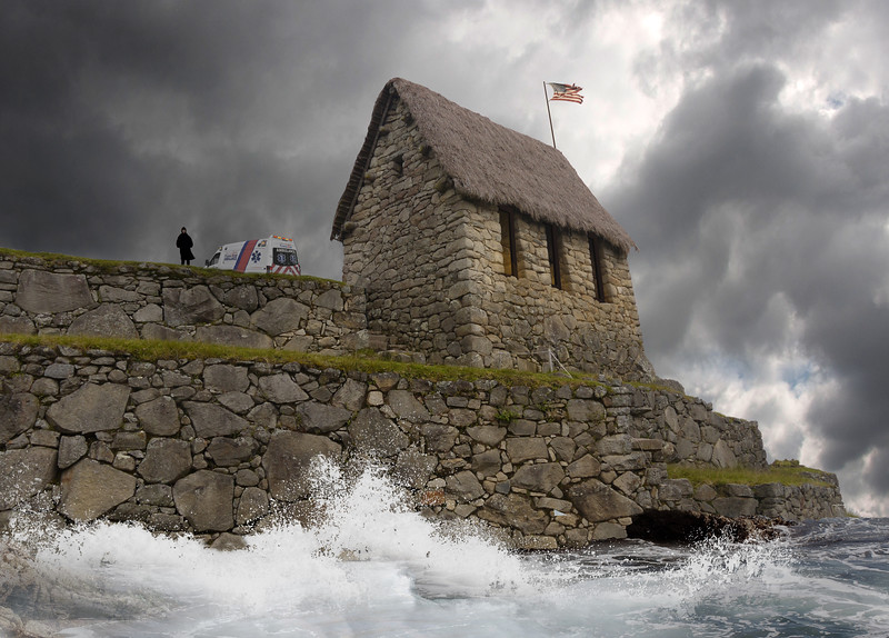 Stone House in Storm Dec 2018 guy AND ambulance copy.jpg