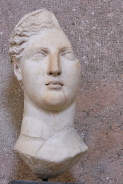 Ancient Corinth head for statue