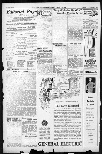 Daily Trojan, Vol. 17, No. 13, October 02, 1925