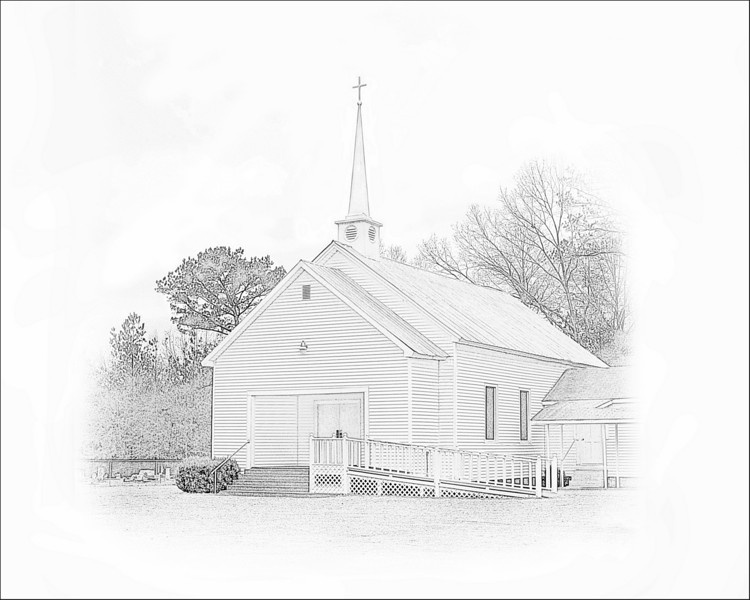 County Line Baptist Church near Arlington, Alabama