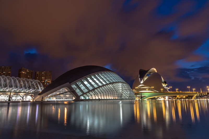 City of Arts and Science Valencia at Night,