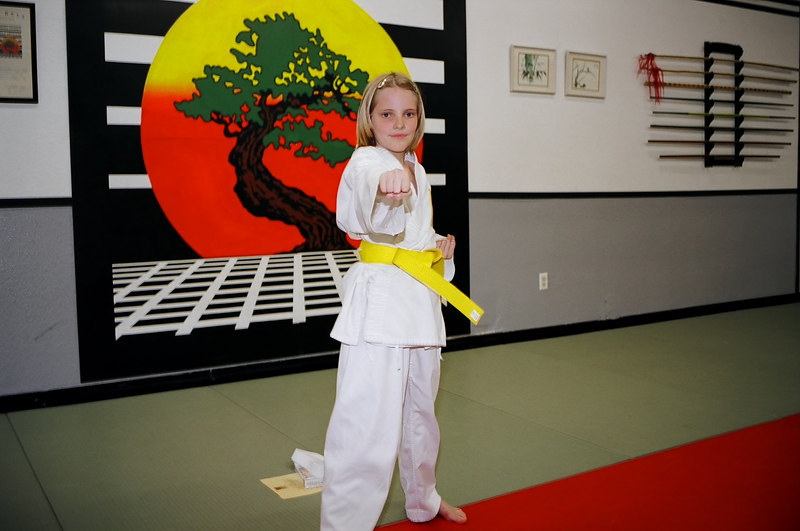 Emily and her yellow belt.