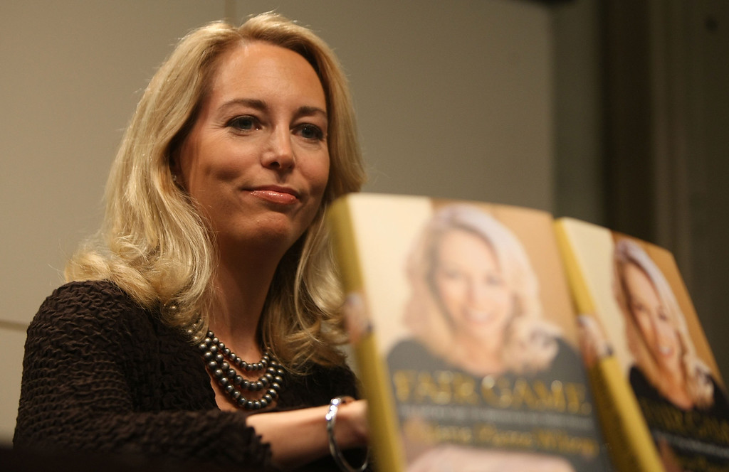 """. NEW YORK - OCTOBER 23:  Former United States C.I.A. officer Valerie Plame Wilson attends a book signing event for her autobiography \""""Fair Game\"""" at the Union Square Barnes and Noble October 23, 2007 in New York City. Wilson, the wife of former Ambassador Joseph C. Wilson, IV, discussed her role in the scandal over Republican lawmakers and journalists who leaked her identity.  (Photo by Mario Tama/Getty Images)"""