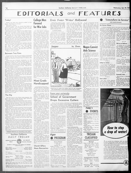 Daily Trojan, Vol. 33, No. 126, April 22, 1942