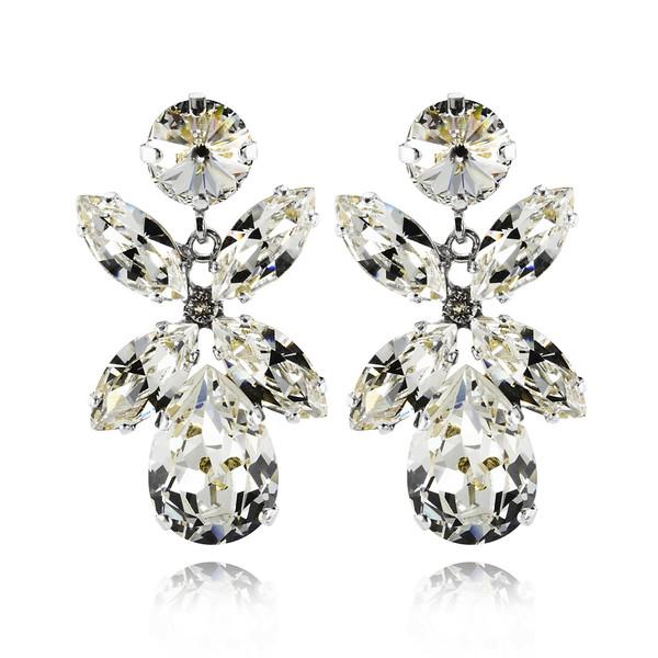 Dione Earrings / Crystal Rhodium