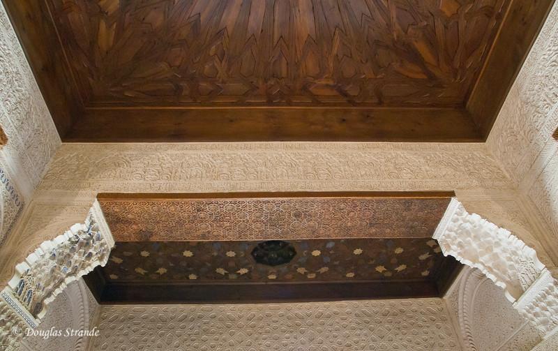 Fri 3/11 at La Alhambra in Grenada: Elaborate wood ceiling