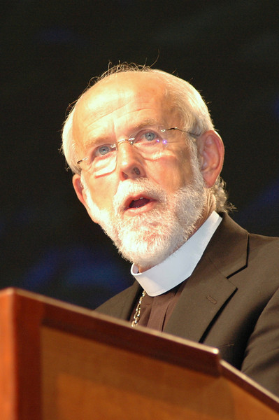 Presiding Bishop Mark S. Hanson during plenary session ten.