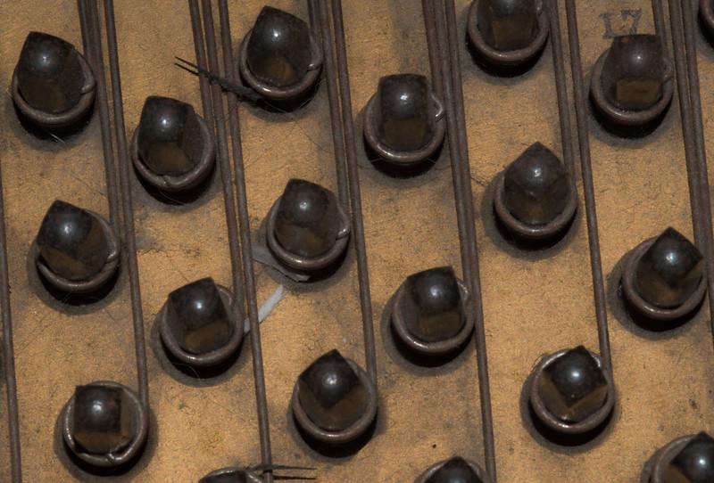 Steinway M Strings Detail